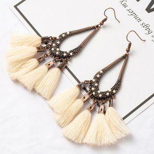 3/$20 New Cream & Copper Boho Dangle Earrings